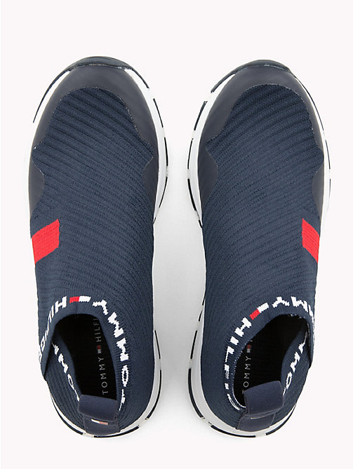 TOMMY HILFIGER Kids' Slip-On Flag Trainers - BLUE - TOMMY HILFIGER Shoes & Accessories - detail image 1