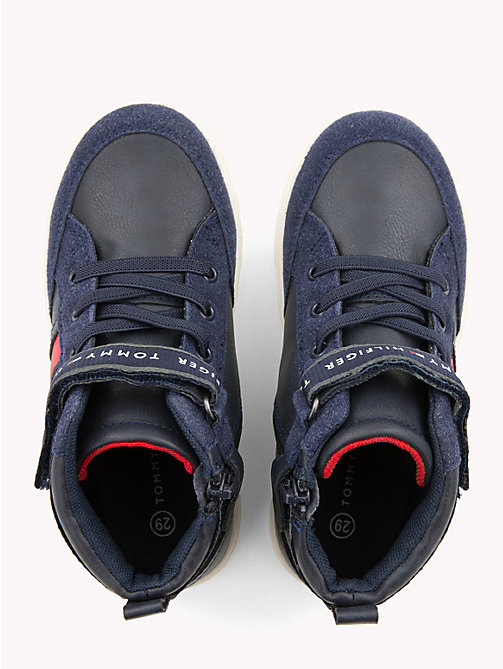 TOMMY HILFIGER Kids' Velcro Lace-Up High-Tops - BLUE - TOMMY HILFIGER Shoes & Accessories - detail image 1