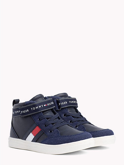 TOMMY HILFIGER Kids' Velcro Lace-Up High-Tops - BLUE - TOMMY HILFIGER Shoes & Accessories - main image