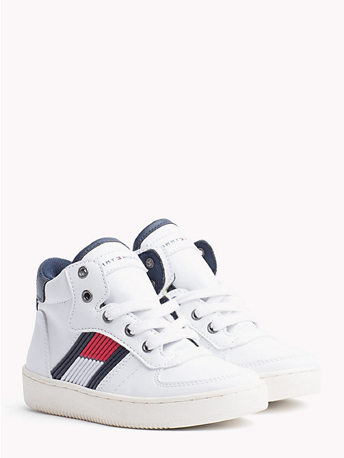 TOMMY HILFIGER Kids' Chunky High-Top Trainers - WHITE - TOMMY HILFIGER Shoes & Accessories - main image