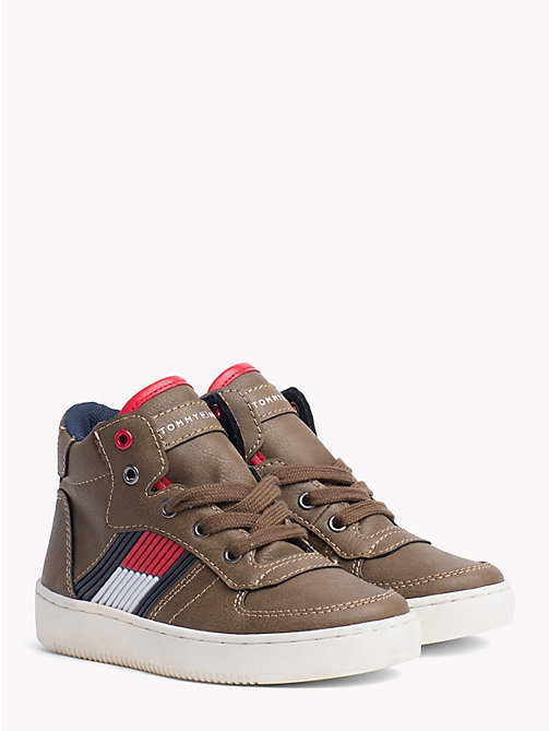 TOMMY HILFIGER Kids' Chunky High-Top Trainers - DARK BROWN - TOMMY HILFIGER Shoes & Accessories - main image