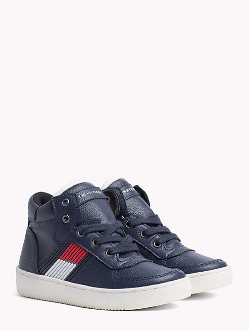 TOMMY HILFIGER Kids' Chunky High-Top Trainers - BLUE - TOMMY HILFIGER Shoes & Accessories - main image