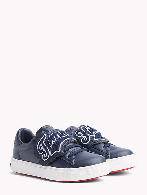 TOMMY HILFIGER Kids' Contrast Detail Trainers - BLUE - TOMMY HILFIGER Shoes & Accessories - main image