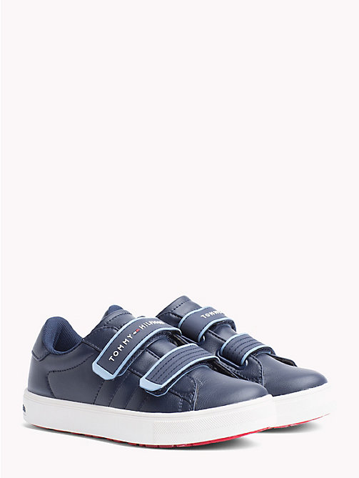 TOMMY HILFIGER Kids' Colour-Pop Velcro Trainers - BLUE/SKY BLUE - TOMMY HILFIGER Shoes & Accessories - main image