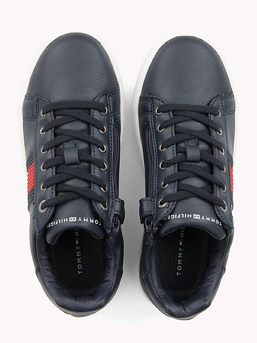 TOMMY HILFIGER Kids' Leather Colour-Blocked Trainers - BLUE - TOMMY HILFIGER Shoes & Accessories - detail image 1