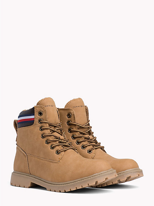 TOMMY HILFIGER Kids' Signature Camel Boots - CAMEL - TOMMY HILFIGER Shoes & Accessories - main image