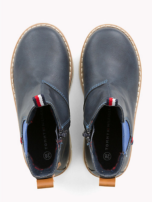 TOMMY HILFIGER Kids' Contrast Chelsea Boots - BLUE - TOMMY HILFIGER Shoes & Accessories - detail image 1