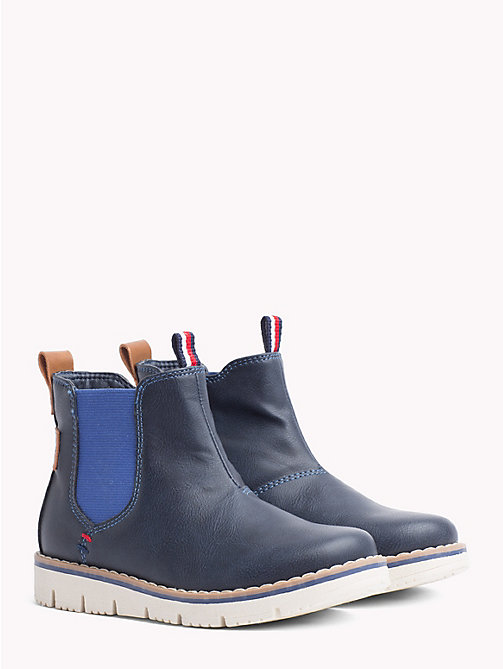 TOMMY HILFIGER Kids' Contrast Chelsea Boots - BLUE - TOMMY HILFIGER Shoes & Accessories - main image