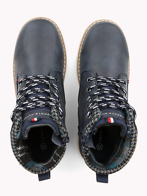 TOMMY HILFIGER Kids' Lace-Up Eco Leather Boots - BLUE - TOMMY HILFIGER Boys - detail image 1