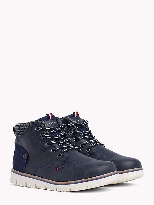 TOMMY HILFIGER Kids' Lace-Up Eco Leather Boots - BLUE - TOMMY HILFIGER Shoes & Accessories - main image