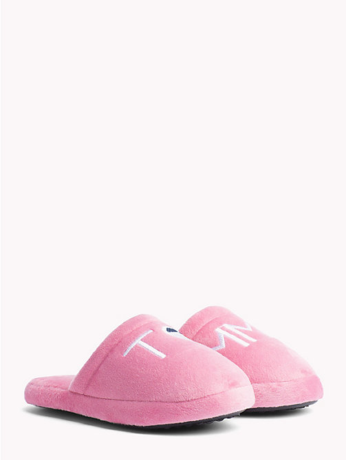 TOMMY HILFIGER Kids' Heart Flag Slippers - PINK - TOMMY HILFIGER Shoes & Accessories - main image
