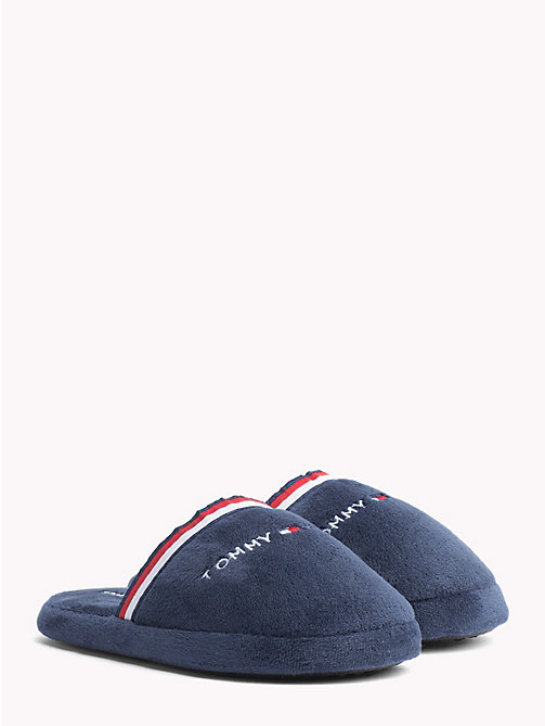 TOMMY HILFIGER Kids' Stripe Fabric Slippers - BLUE - TOMMY HILFIGER Shoes & Accessories - main image
