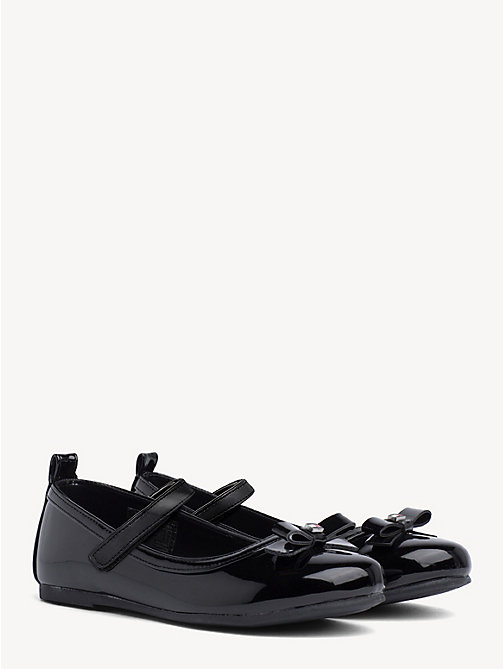 TOMMY HILFIGER Kids' Bow Ballerina Shoes - BLACK - TOMMY HILFIGER Girls - main image