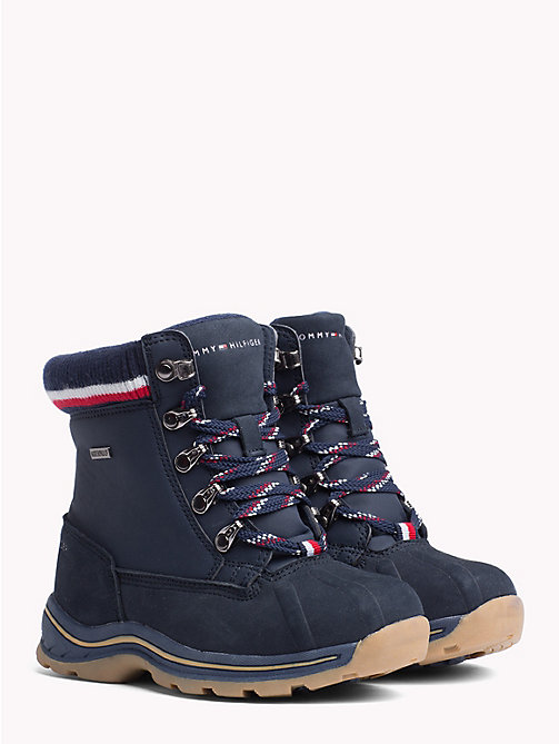TOMMY HILFIGER Kids' Signature Tape Hiking Boots - BLUE - TOMMY HILFIGER Shoes & Accessories - main image
