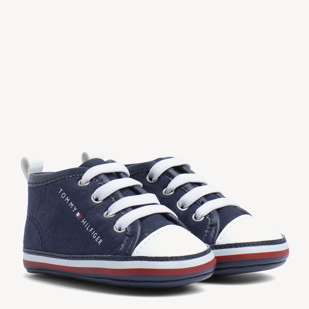 Tommy Hilfiger - Kids' Signature Sole Lace-Up Trainers - 1