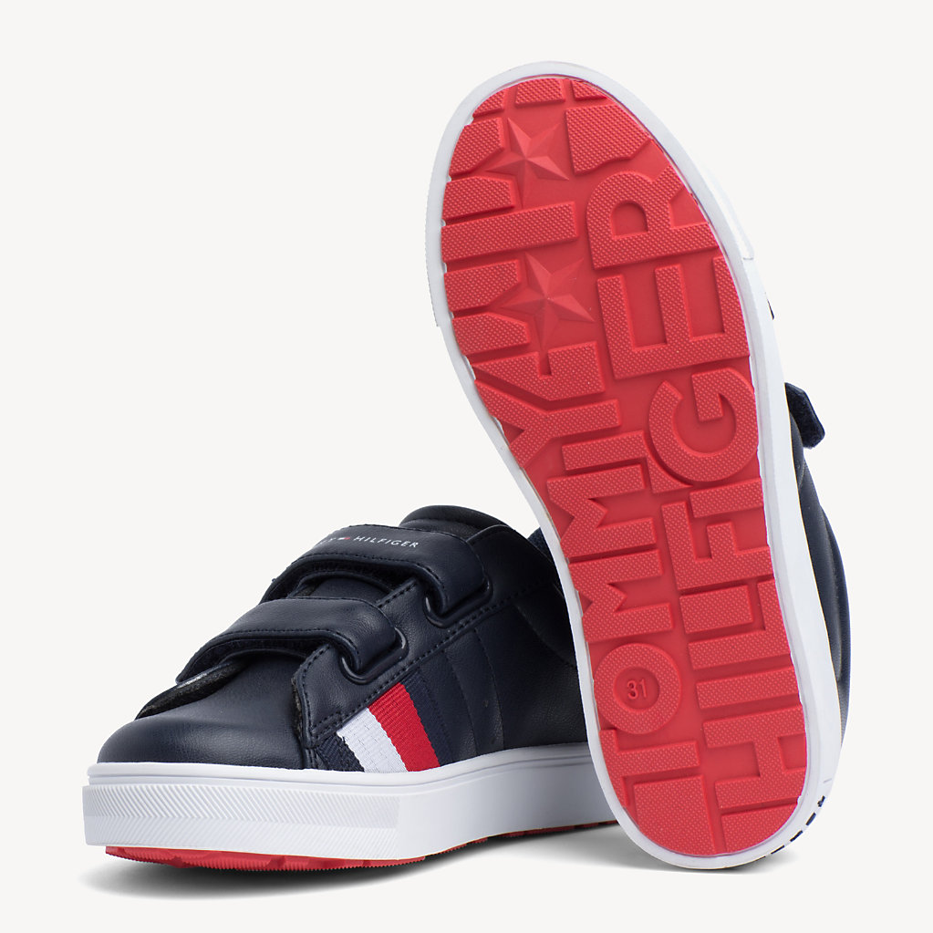 Tommy Hilfiger - Kids' Velcro Signature Trainers - 2