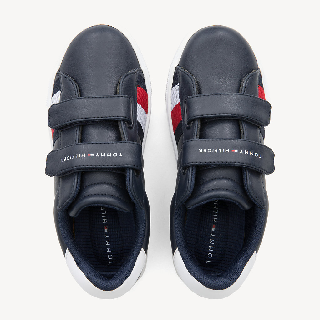 Tommy Hilfiger - Kids' Velcro Signature Trainers - 4