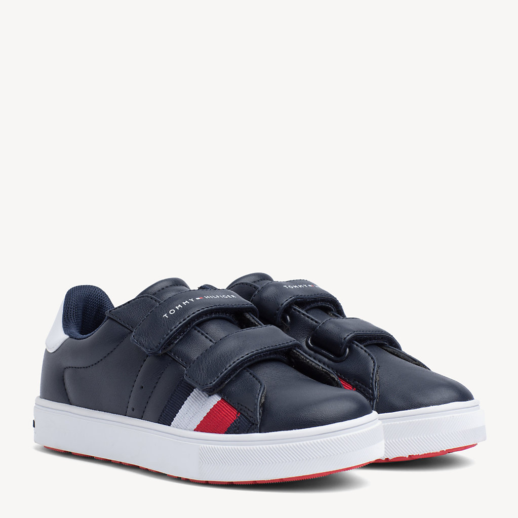 Tommy Hilfiger - Kids' Velcro Signature Trainers - 1