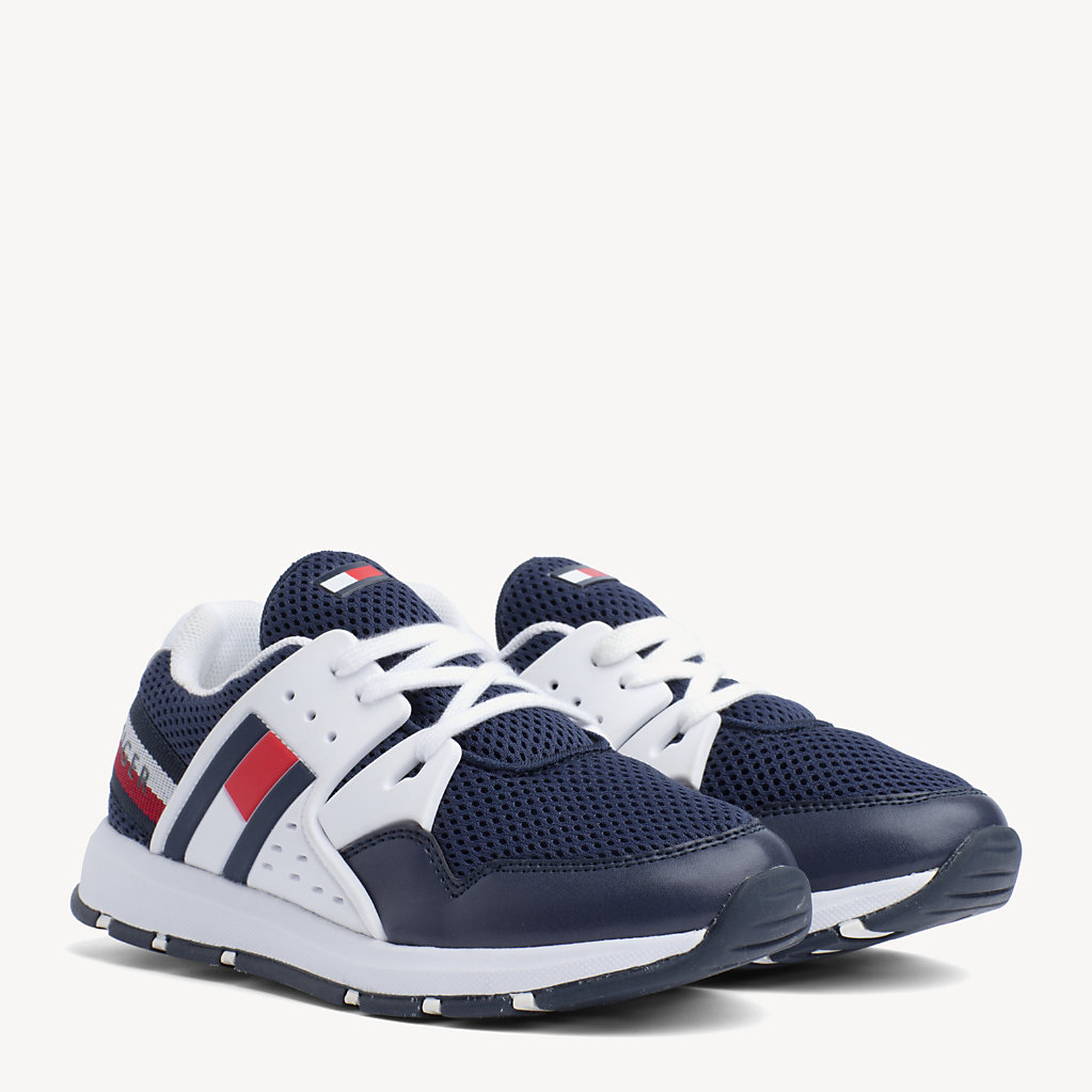 Tommy Hilfiger - Kids' Lace-Up Logo Trainers - 1