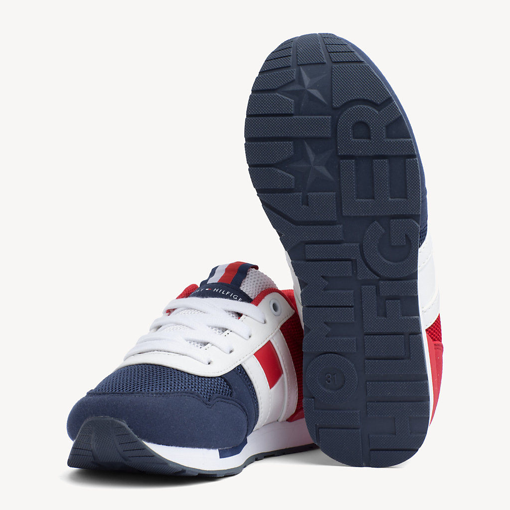Tommy Hilfiger - Kids' Signature Colour-Blocked Mesh Trainers - 2