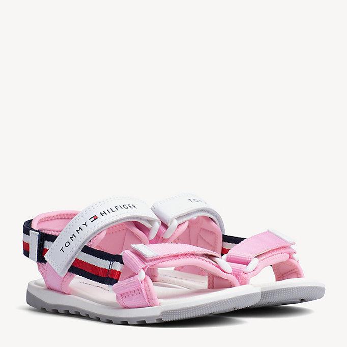 d65b6e5c Kids' Velcro Signature Tape Sandals | Tommy Hilfiger