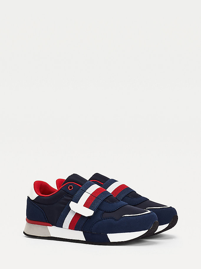 blue signature strap trainers for boys tommy hilfiger
