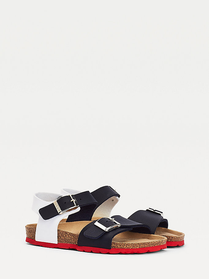 blue square buckle strap sandals for boys tommy hilfiger
