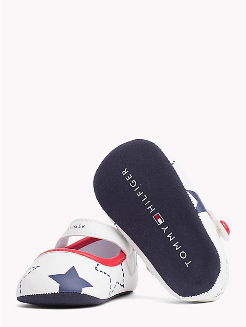 TOMMY HILFIGER Star Print Ballerina Flats - WHITE BLUE RED - TOMMY HILFIGER Shoes & Accessories - detail image 1