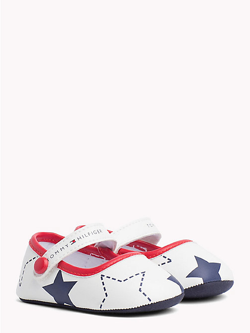 TOMMY HILFIGER Star Print Ballerina Flats - WHITE BLUE RED - TOMMY HILFIGER Shoes & Accessories - main image