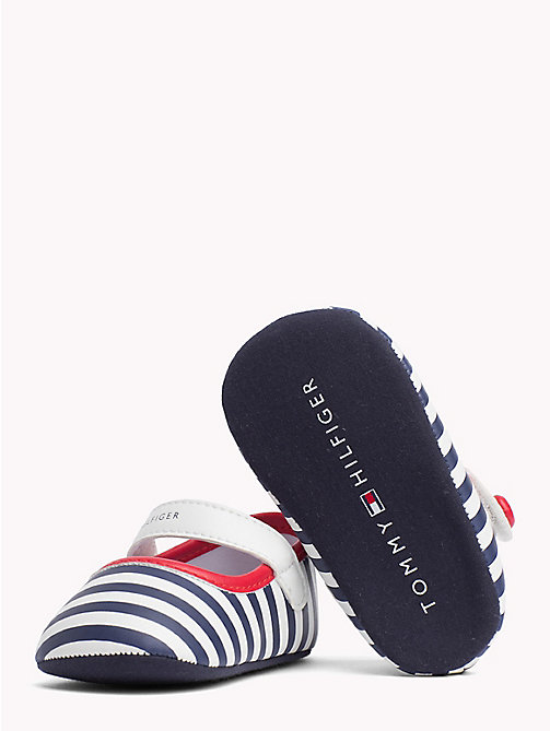 TOMMY HILFIGER Stripe Ballerinas - WHITE BLUE RED - TOMMY HILFIGER Shoes & Accessories - detail image 1
