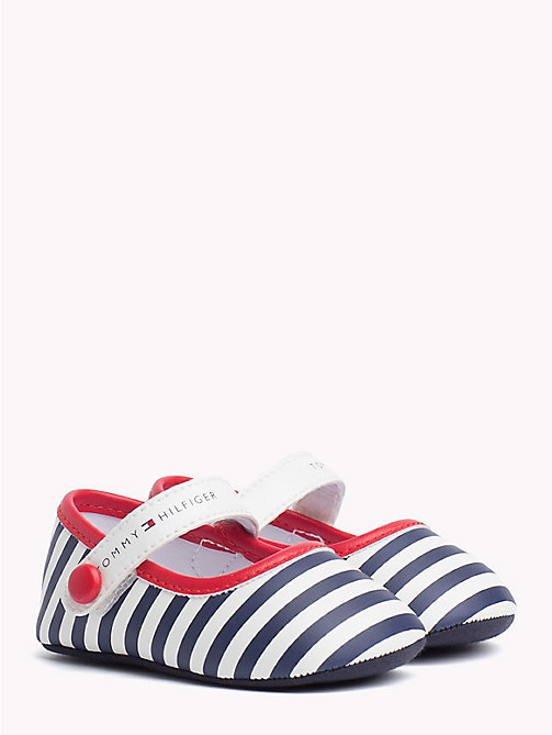TOMMY HILFIGER Stripe Ballerinas - WHITE BLUE RED - TOMMY HILFIGER Shoes & Accessories - main image