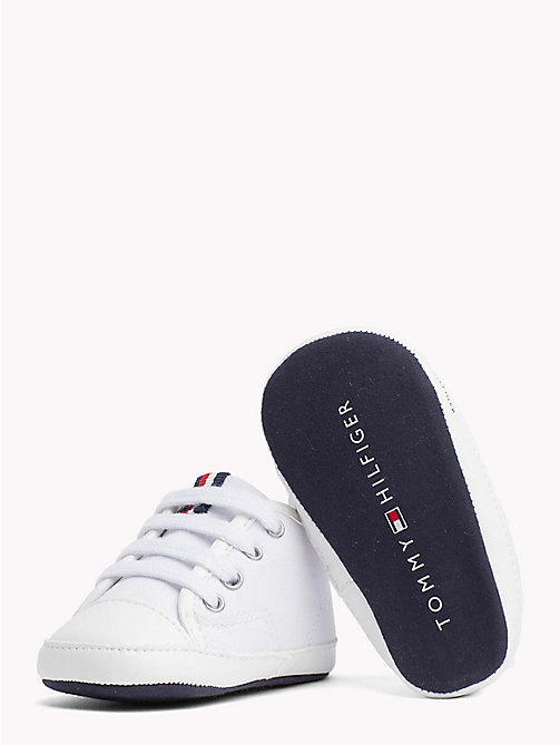 TOMMY HILFIGER Newborn Lace-Up Trainers - WHITE - TOMMY HILFIGER Boys - detail image 1