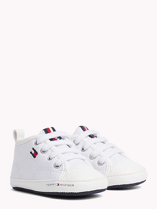 TOMMY HILFIGER Newborn Lace-Up Trainers - WHITE - TOMMY HILFIGER Boys - main image