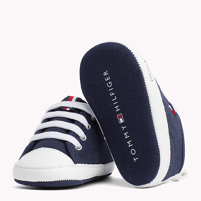 TOMMY HILFIGER Newborn Lace-Up Trainers - WHITE - TOMMY HILFIGER Kids - detail image 1