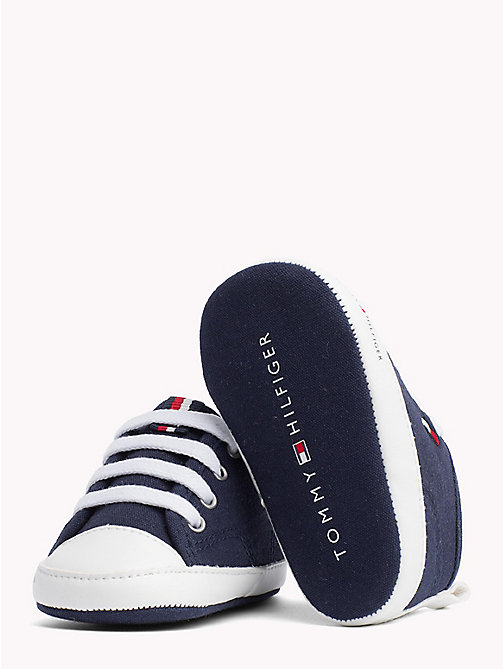TOMMY HILFIGER Newborn Lace-Up Trainers - BLUE -  Boys - detail image 1