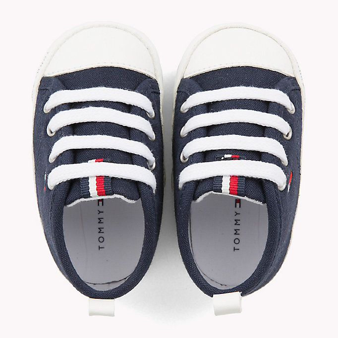 TOMMY HILFIGER Newborn Lace-Up Trainers - WHITE - TOMMY HILFIGER Kids - detail image 3