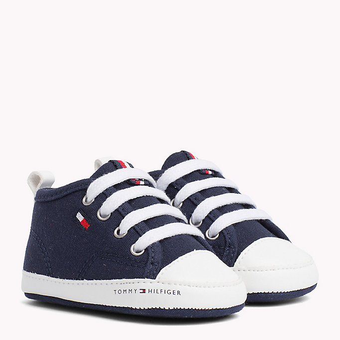 TOMMY HILFIGER Newborn Lace-Up Trainers - WHITE - TOMMY HILFIGER Kids - main image
