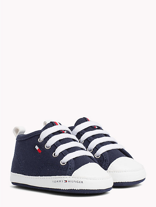 TOMMY HILFIGER Newborn Lace-Up Trainers - BLUE - TOMMY HILFIGER Boys - main image
