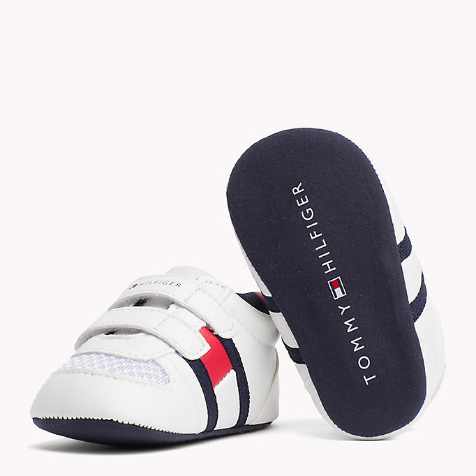 TOMMY HILFIGER Everyday Velcro Trainers - BLUE / RED - TOMMY HILFIGER Kids - detail image 1