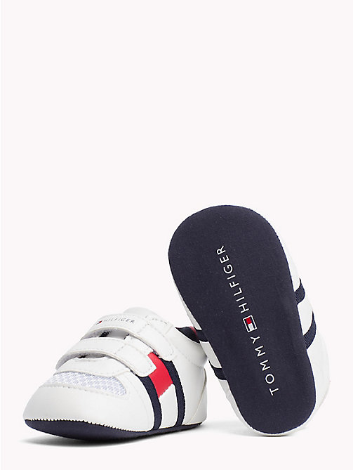 TOMMY HILFIGER Everyday Velcro Trainers - WHITE RED - TOMMY HILFIGER Boys - detail image 1