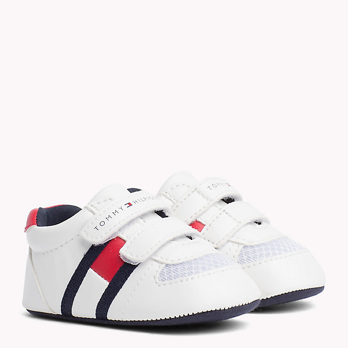 TOMMY HILFIGER Everyday Velcro Trainers - BLUE / RED - TOMMY HILFIGER Kids - main image