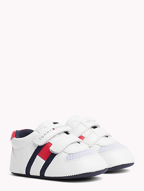TOMMY HILFIGER Everyday Velcro Trainers - WHITE RED - TOMMY HILFIGER Boys - main image