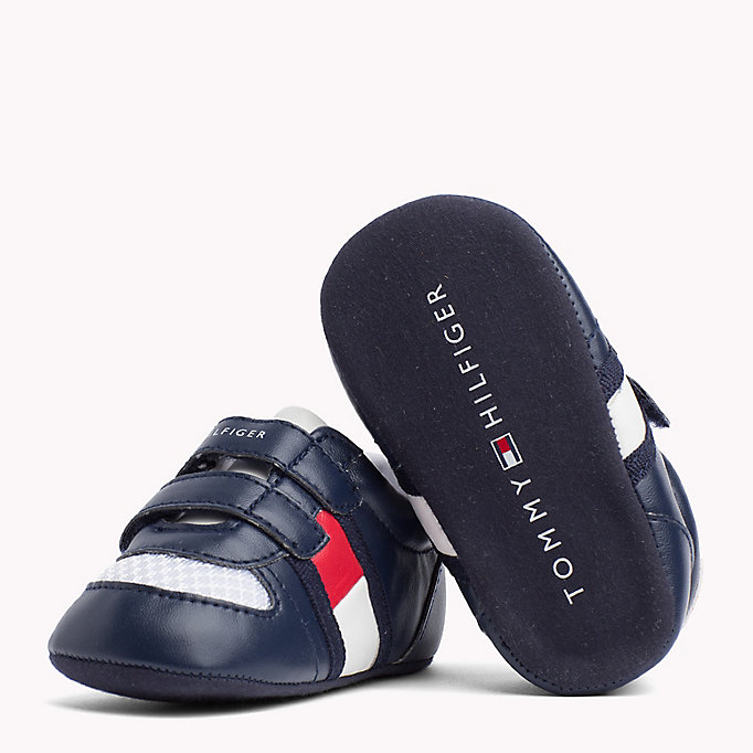 TOMMY HILFIGER Everyday Velcro Trainers - WHITE RED - TOMMY HILFIGER Kids - detail image 1