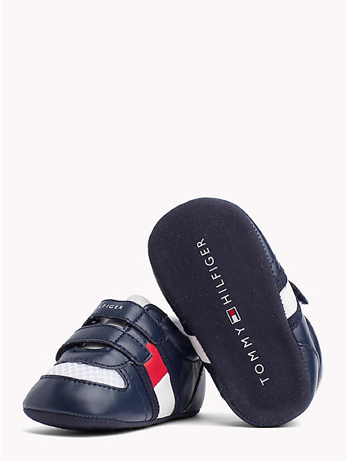 TOMMY HILFIGER Everyday Velcro Trainers - BLUE/RED -  Boys - detail image 1