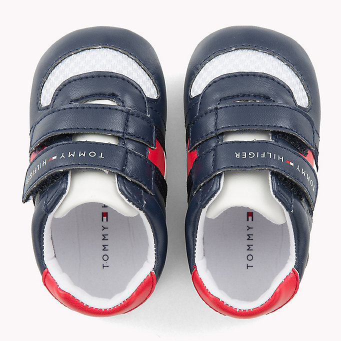 TOMMY HILFIGER Everyday Velcro Trainers - WHITE RED - TOMMY HILFIGER Kids - detail image 3