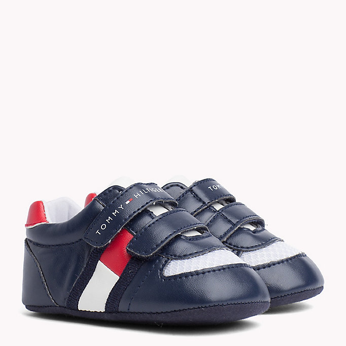 TOMMY HILFIGER Everyday Velcro Trainers - WHITE RED - TOMMY HILFIGER Kids - main image