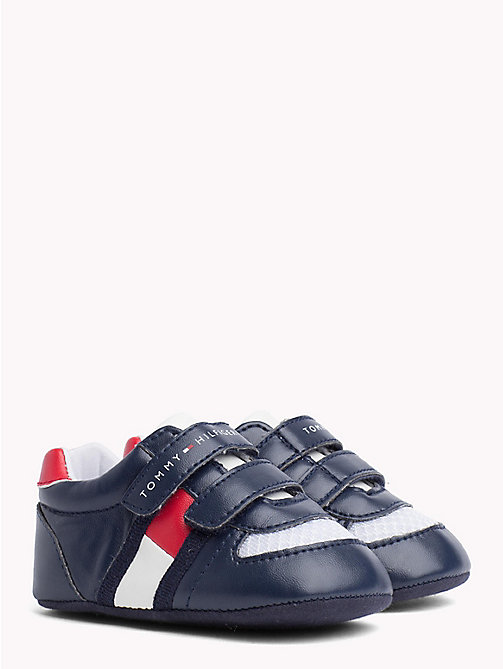 TOMMY HILFIGER Everyday Velcro Trainers - BLUE/RED -  Boys - main image