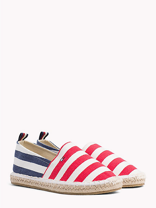TOMMY HILFIGER Espadrillas a righe suola in corda - WHITE/RED/BLUE - TOMMY HILFIGER Bambine - immagine principale