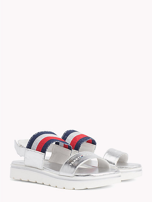TOMMY HILFIGER Sparkly Velcro Sandals - SILVER - TOMMY HILFIGER Girls - main image