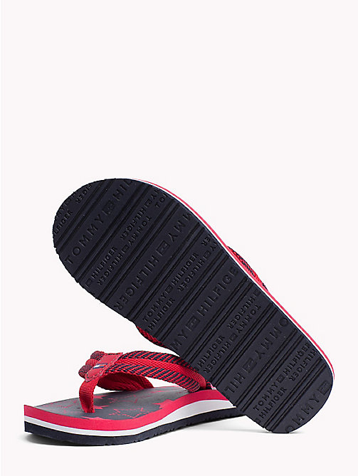 TOMMY HILFIGER Star Print Flip-Flops - RED/BLU -  Girls - detail image 1